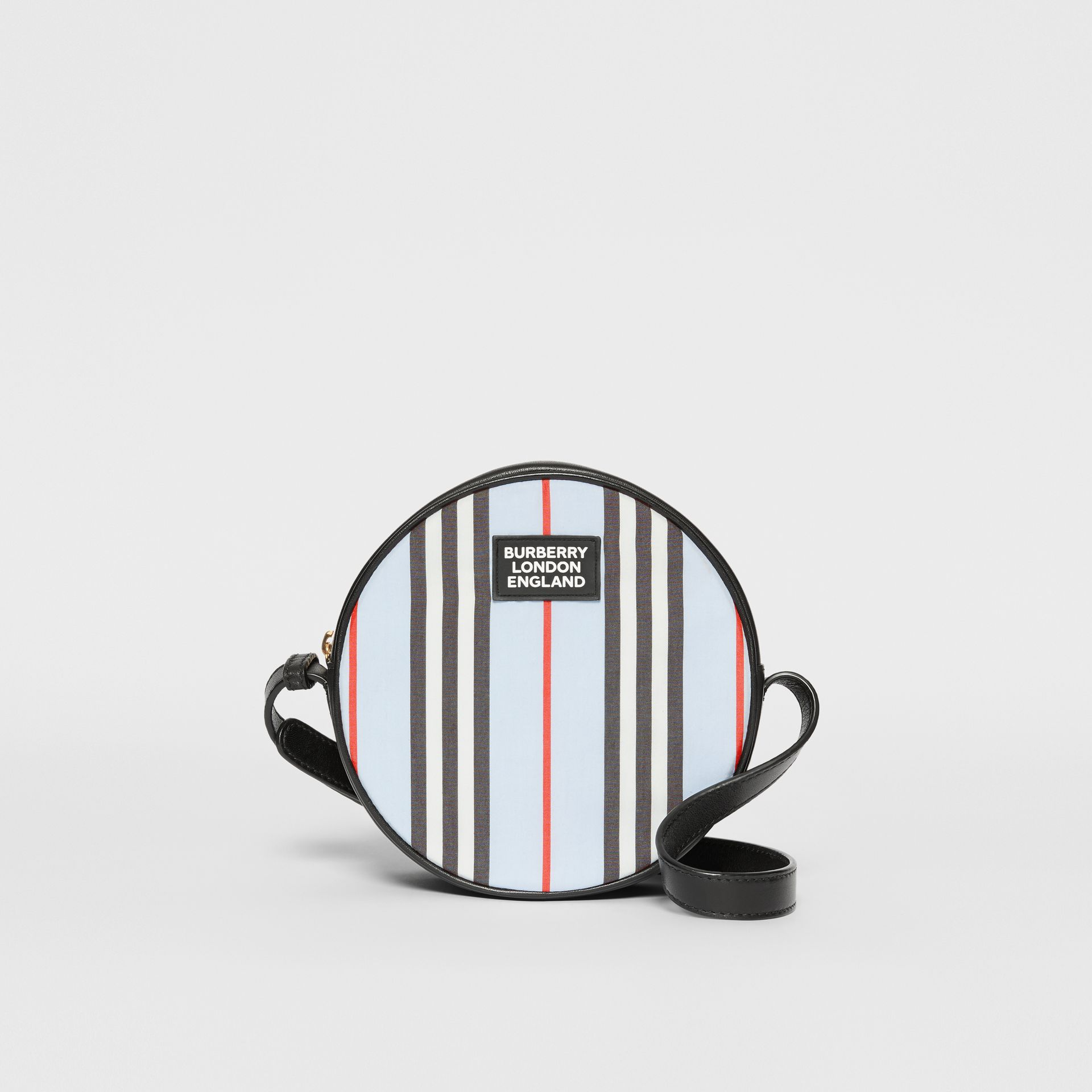 Icon Stripe Nylon Crossbody Bag in Pale Blue - Children | Burberry United States - gallery image 0