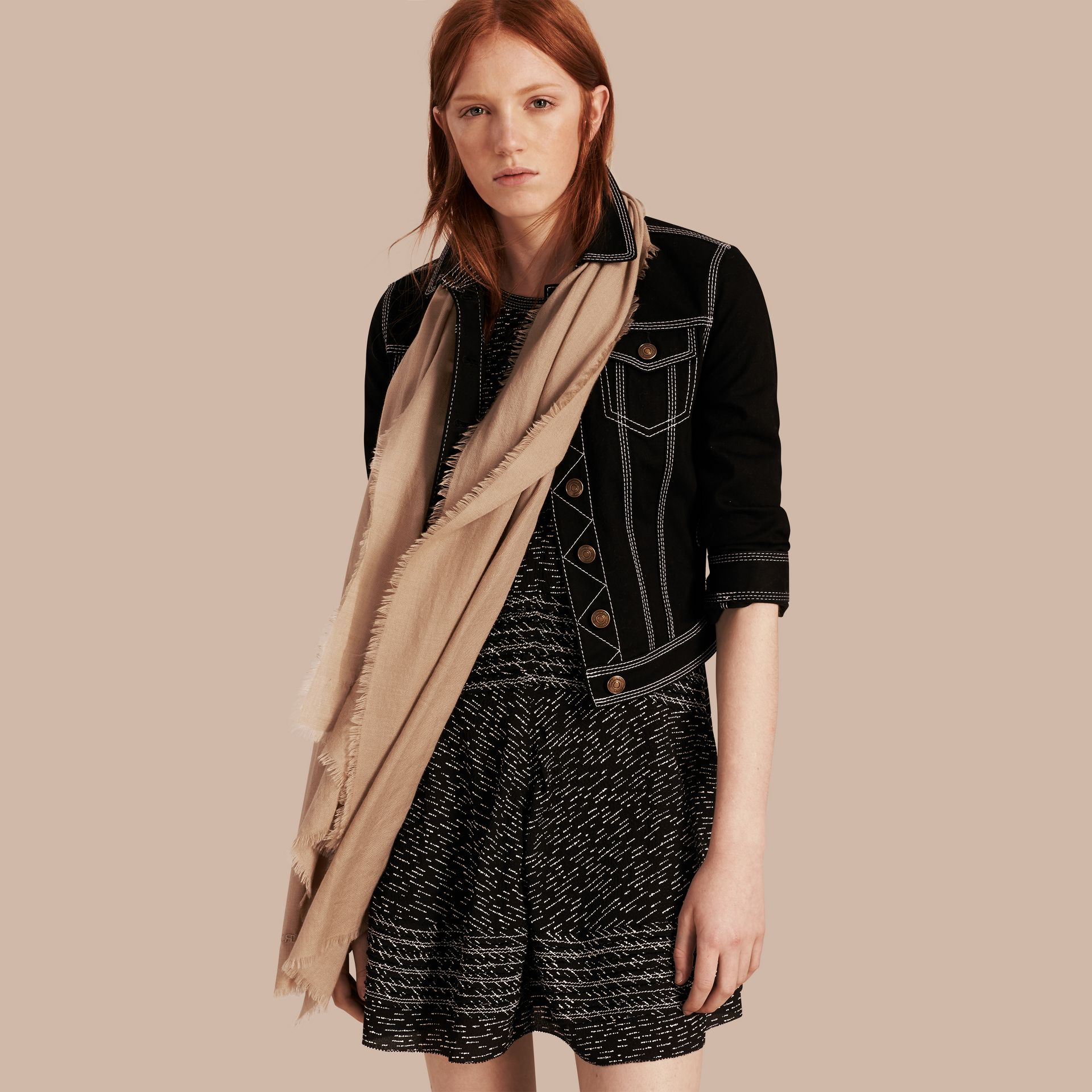 Camel The Lightweight Cashmere Scarf Camel - gallery image 4