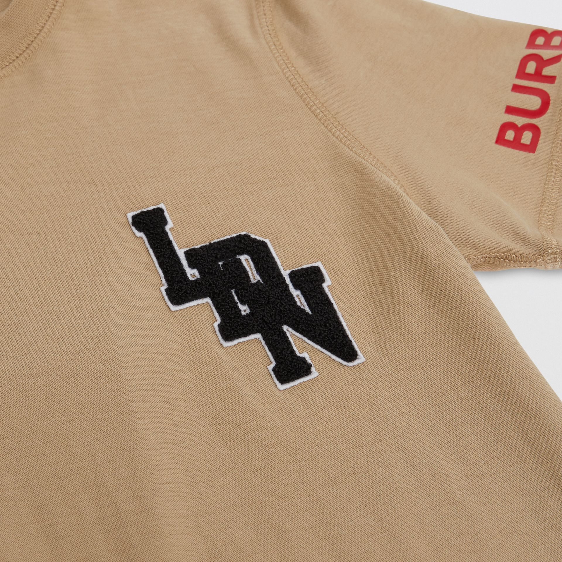 Logo Graphic Cotton T-shirt in Archive Beige | Burberry - gallery image 1