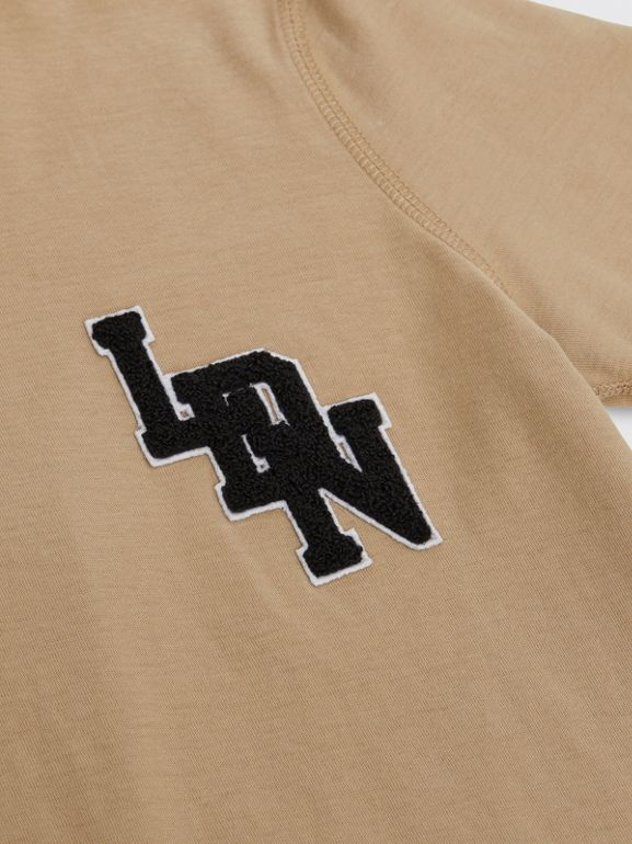 Logo Graphic Cotton T-shirt in Archive Beige | Burberry - cell image 1