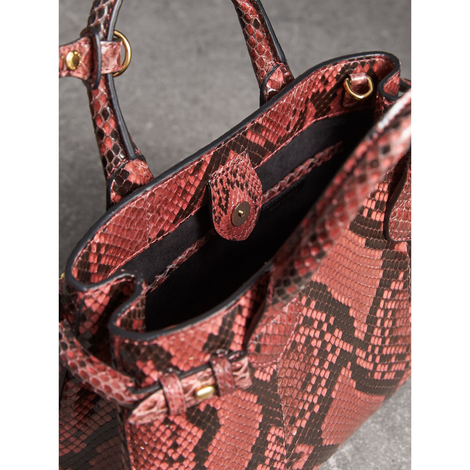 The Small Banner in Python in Peony - Women | Burberry - gallery image 5