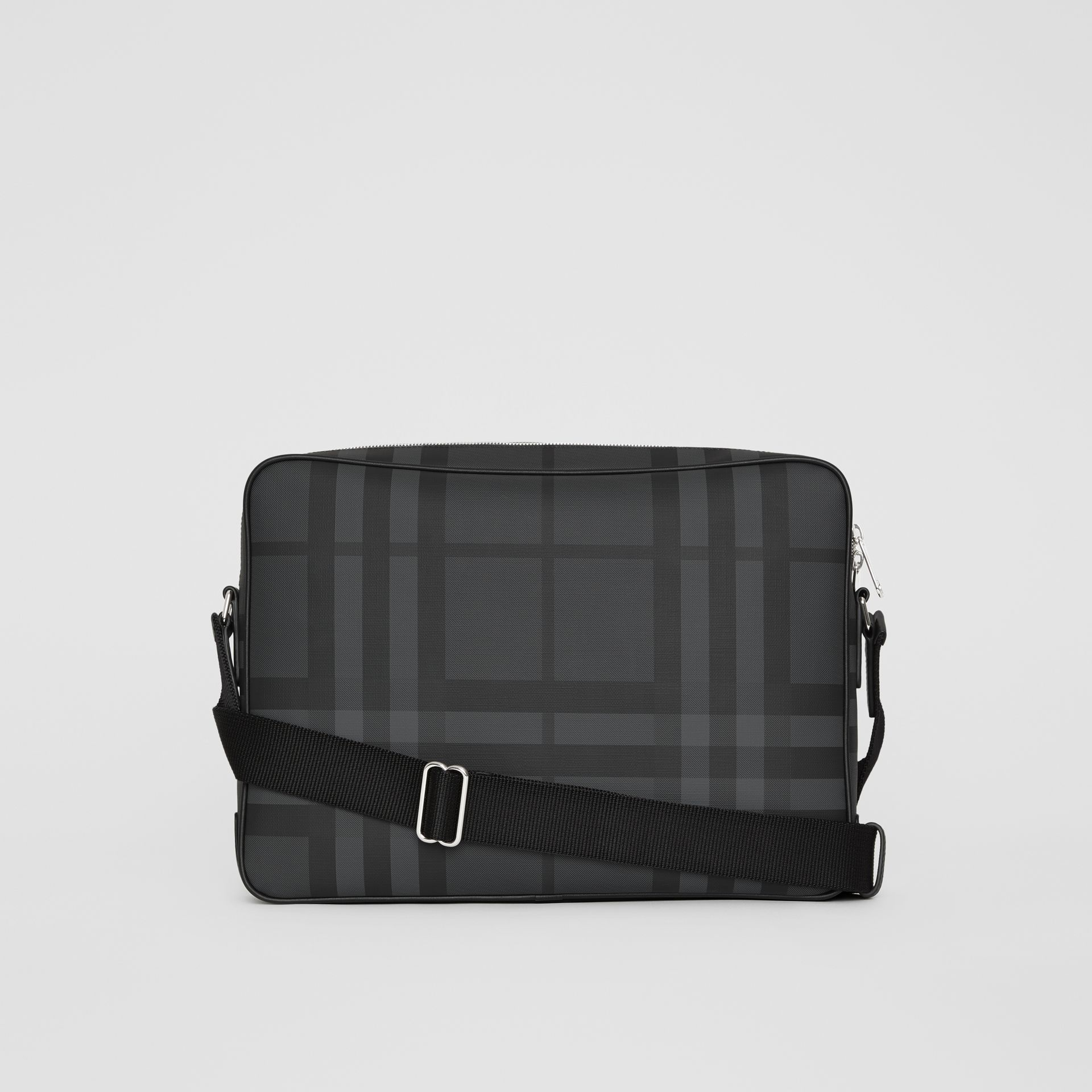 London Check Messenger Bag in Charcoal/black - Men | Burberry - gallery image 7