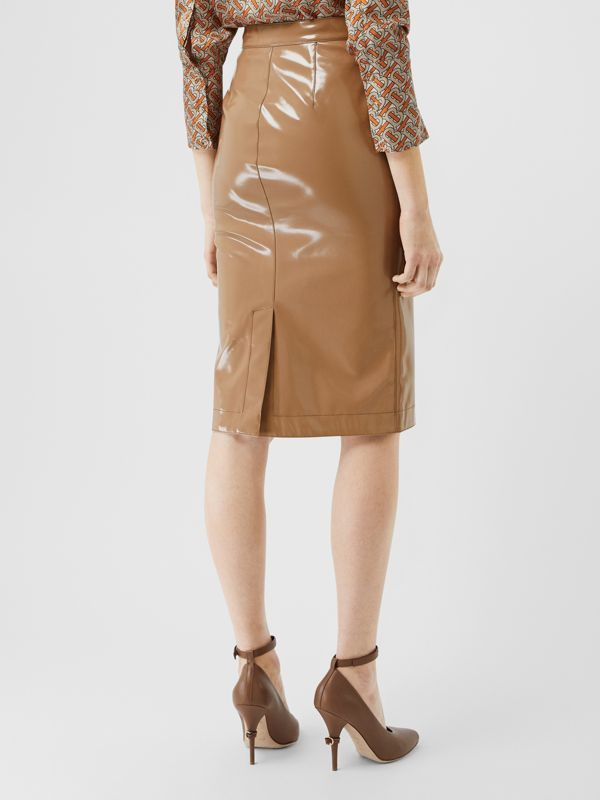 Vinyl Pencil Skirt in Utility Beige - Women | Burberry - cell image 2