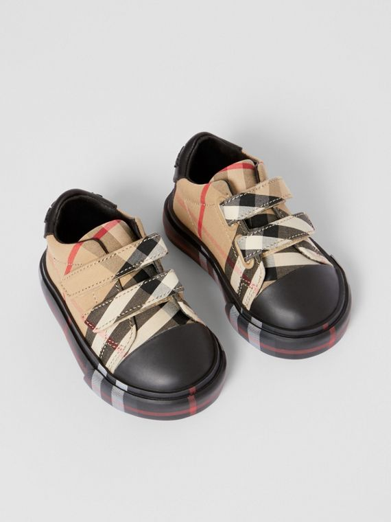 Zapatillas deportivas en algodón a cuadros Vintage Checks (Beige  / Negro)