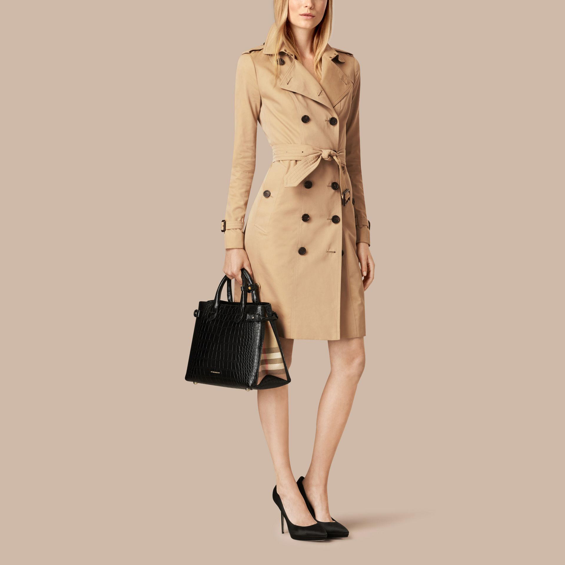 The Banner media in alligatore (Nero) - Donna | Burberry - immagine della galleria 2