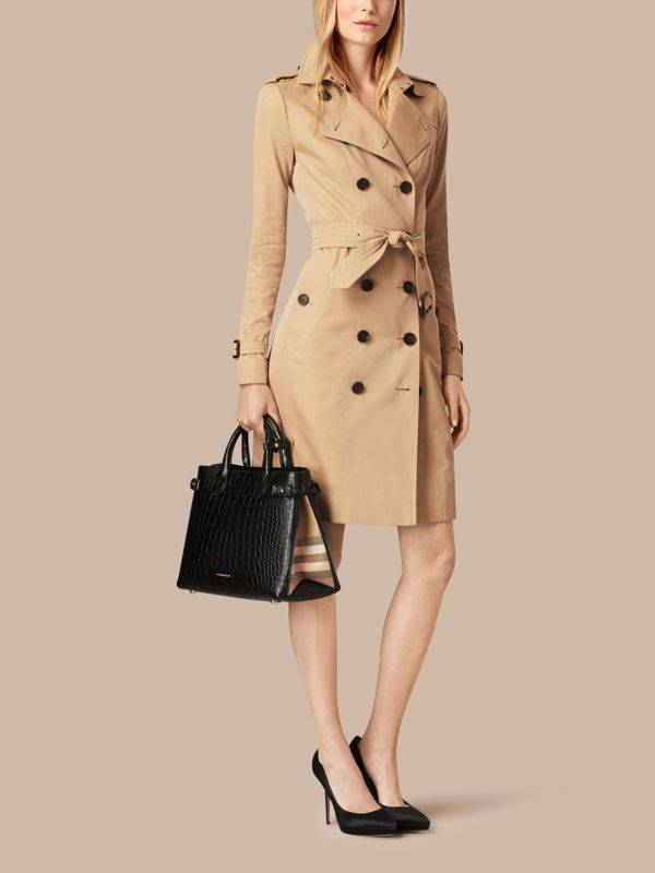 The Banner media in alligatore (Nero) - Donna | Burberry - cell image 2
