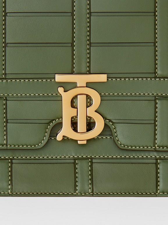 Bolsa TB de couro trançado - Média (Verde Sálvia) - Mulheres | Burberry - cell image 1