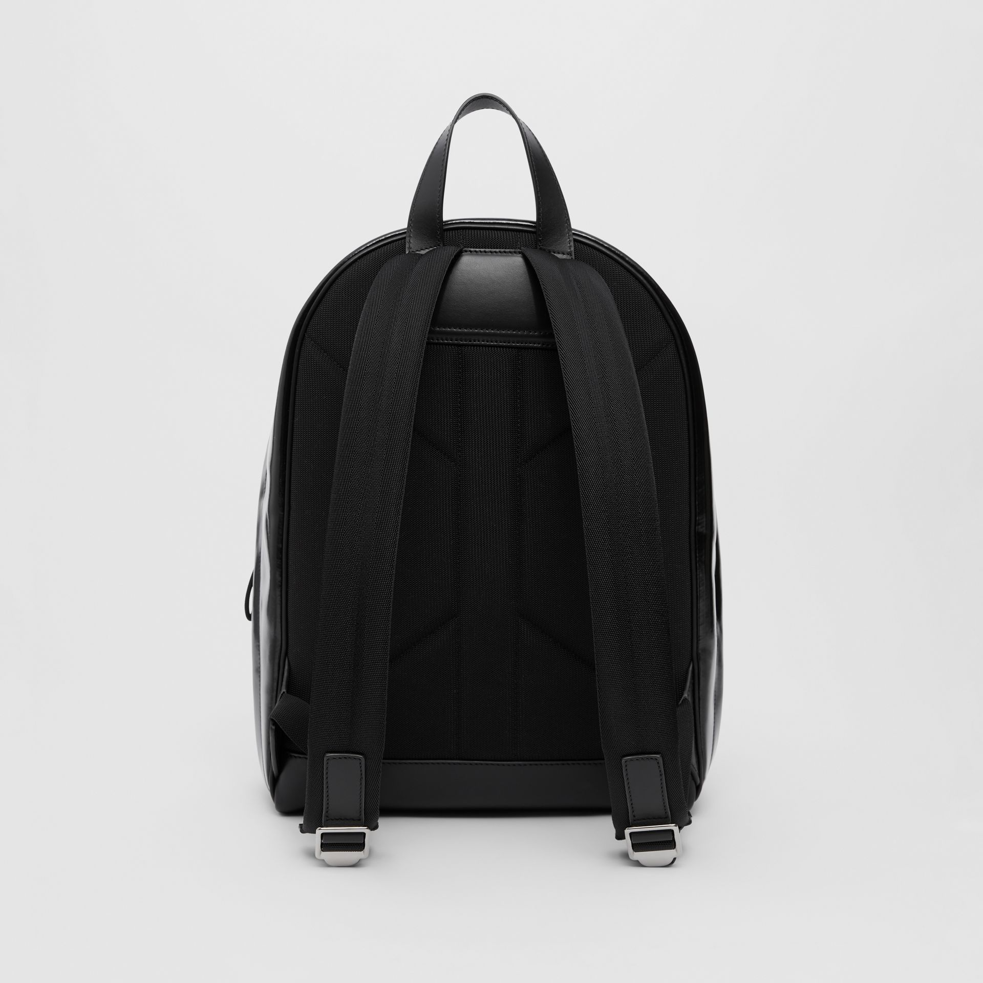 Logo Graphic Coated Canvas Backpack in Black | Burberry Hong Kong S.A.R - gallery image 7