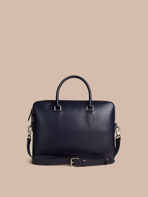Medium London Leather Briefcase Dark Navy - cell image 3
