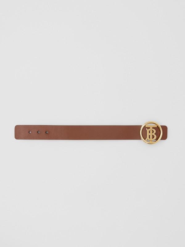 Monogram Motif Leather Bracelet in Tan - Women | Burberry - cell image 3