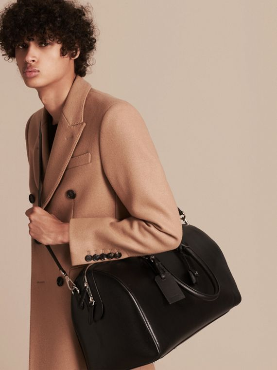 London Leather Holdall in Black | Burberry - cell image 2