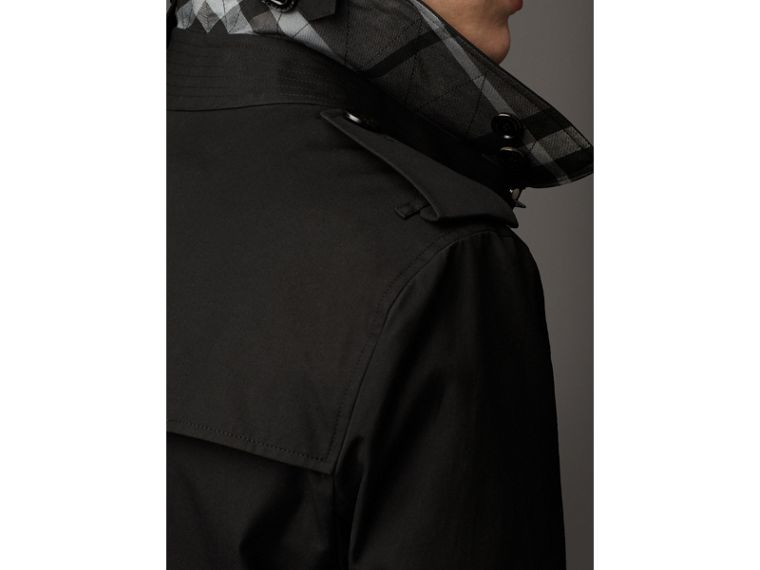 Cotton Gabardine Trench Coat in Jet Black - Men | Burberry - cell image 2
