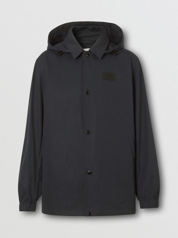 Detachable Hood Logo Appliqué Lightweight Jacket in Navy