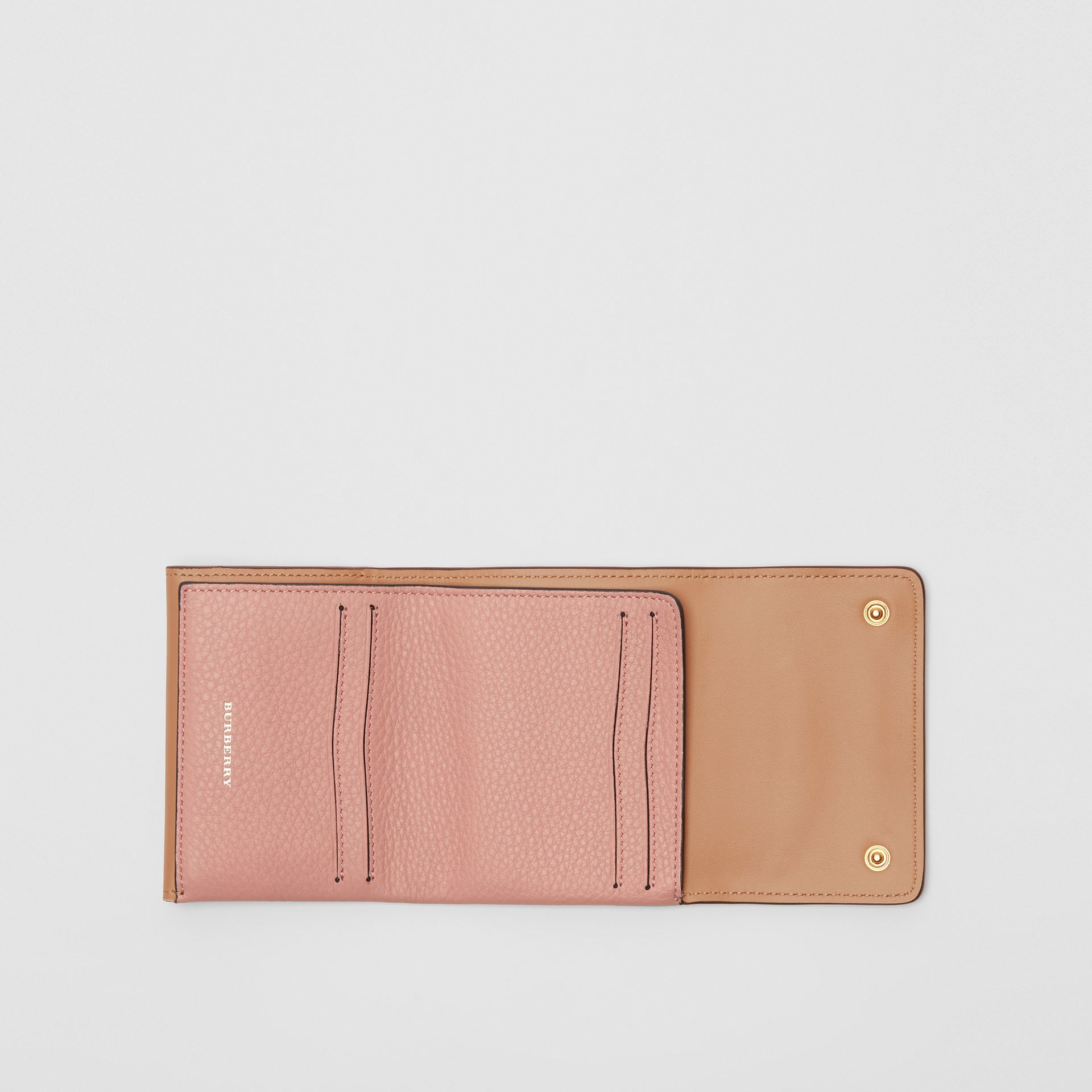 Small Leather Folding Wallet in Ash Rose - Women | Burberry - gallery image 2