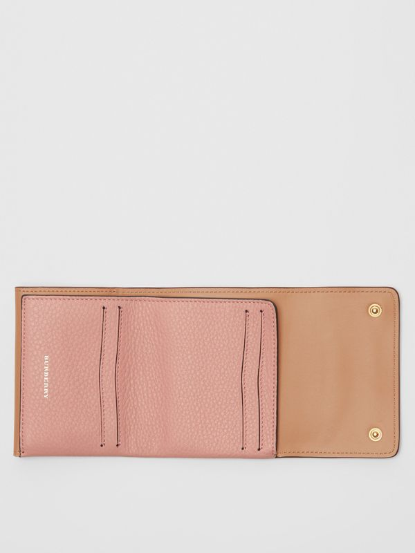 Small Leather Folding Wallet in Ash Rose - Women | Burberry Australia - cell image 2