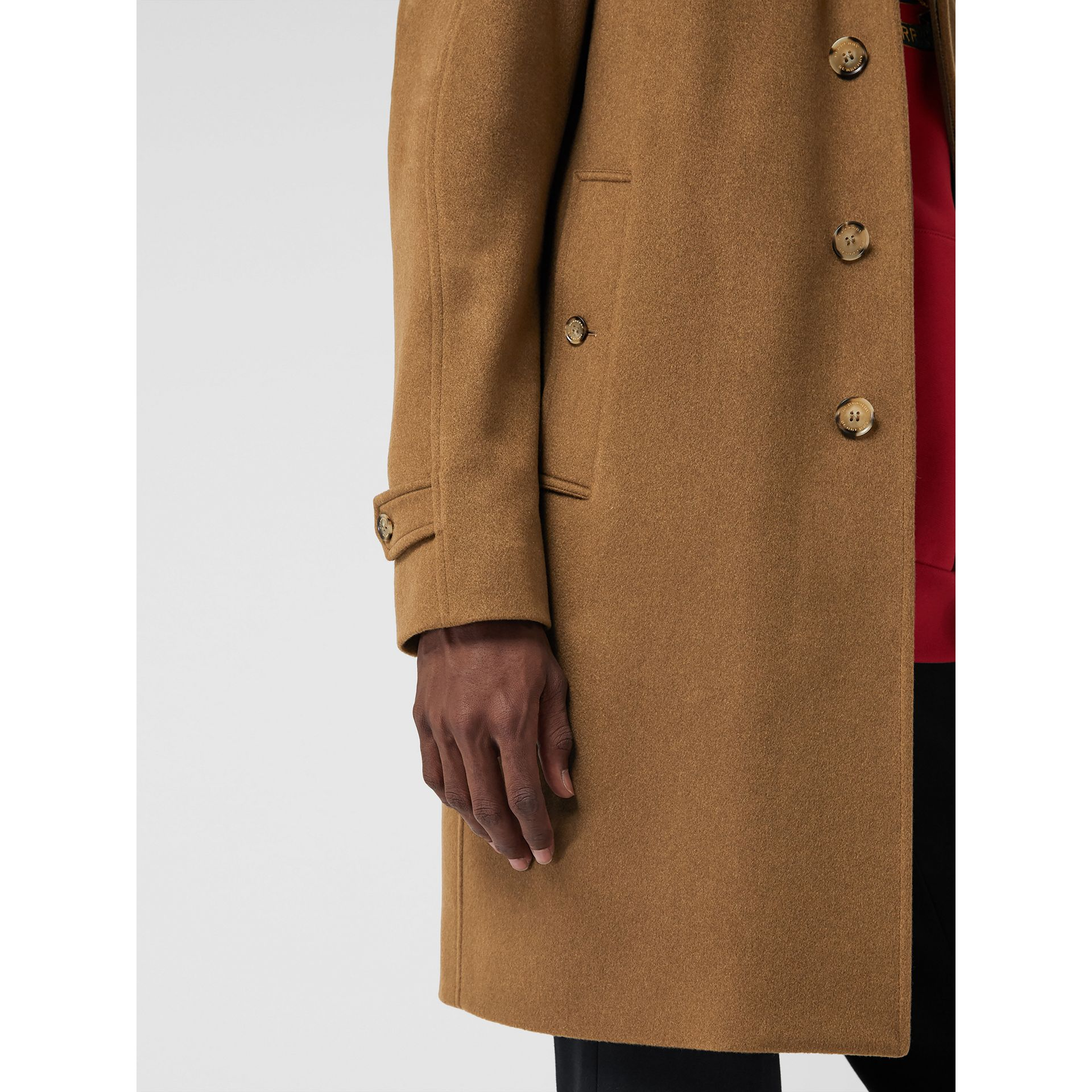 Cashmere Car Coat in Dark Camel - Men | Burberry Australia - gallery image 1