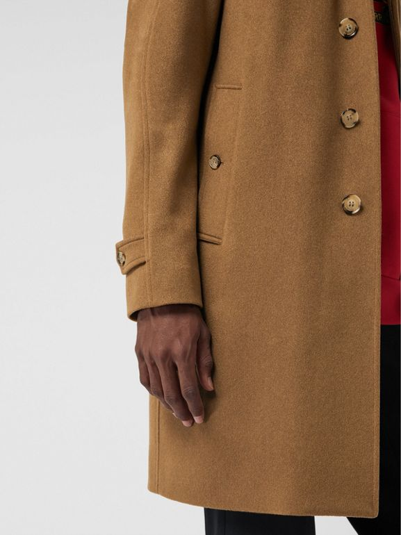 Cashmere Car Coat in Dark Camel - Men | Burberry United Kingdom - cell image 1