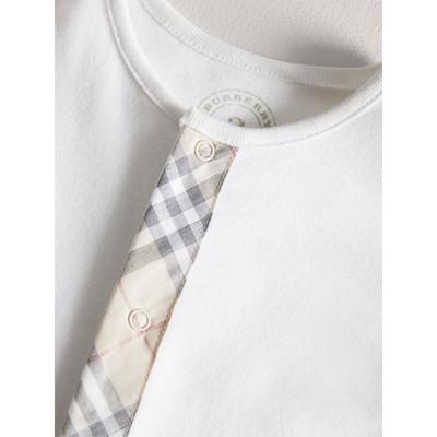 Burberry - Combinaison en coton avec garnitures à motif check - 2