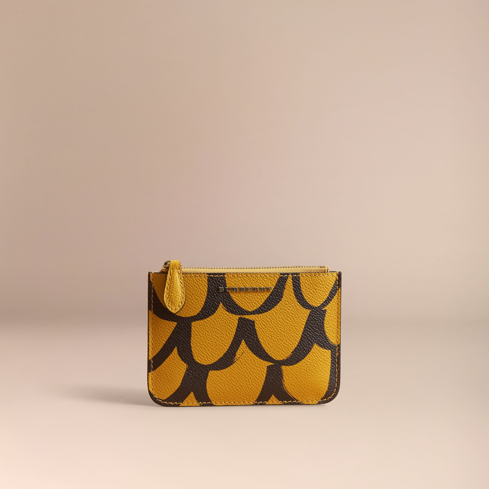Trompe L'oeil Print Leather Pouch - gallery image 5