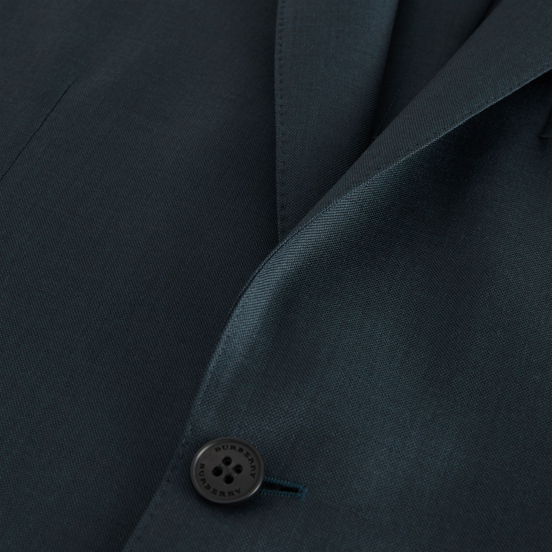 Slim Fit Wool Mohair Silk Suit in Dark Teal - Men | Burberry - gallery image 8