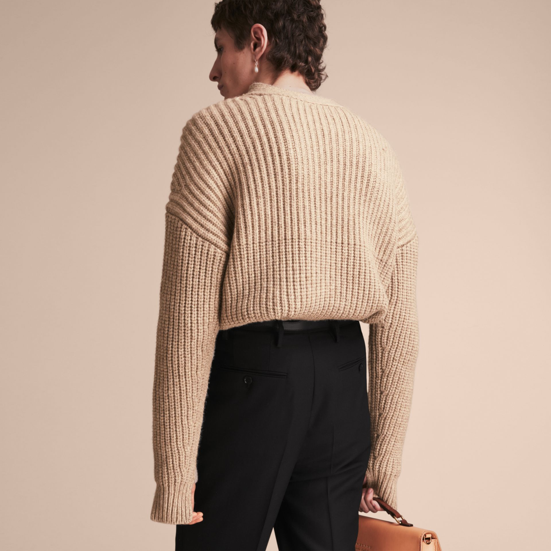 Panelled Cashmere Fisherman Sweater - Men | Burberry - gallery image 3