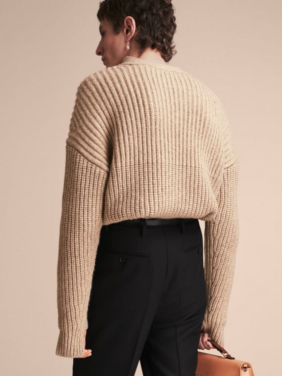 Panelled Cashmere Fisherman Sweater - Men | Burberry - cell image 2