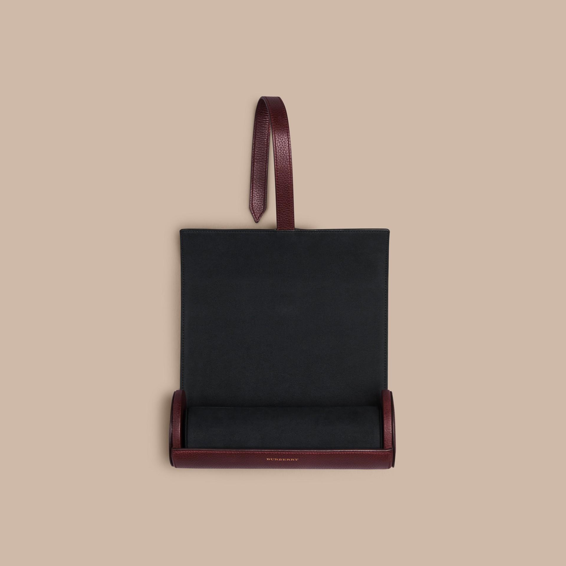 Rosso ebano Custodia per orologi in pelle a grana Rosso Ebano - immagine della galleria 2
