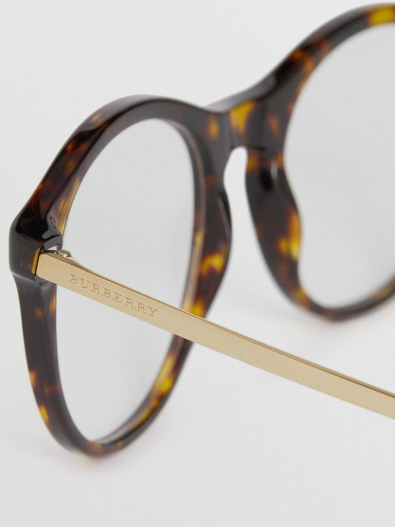 Round Optical Frames in Tortoise Shell - Women | Burberry - cell image 1