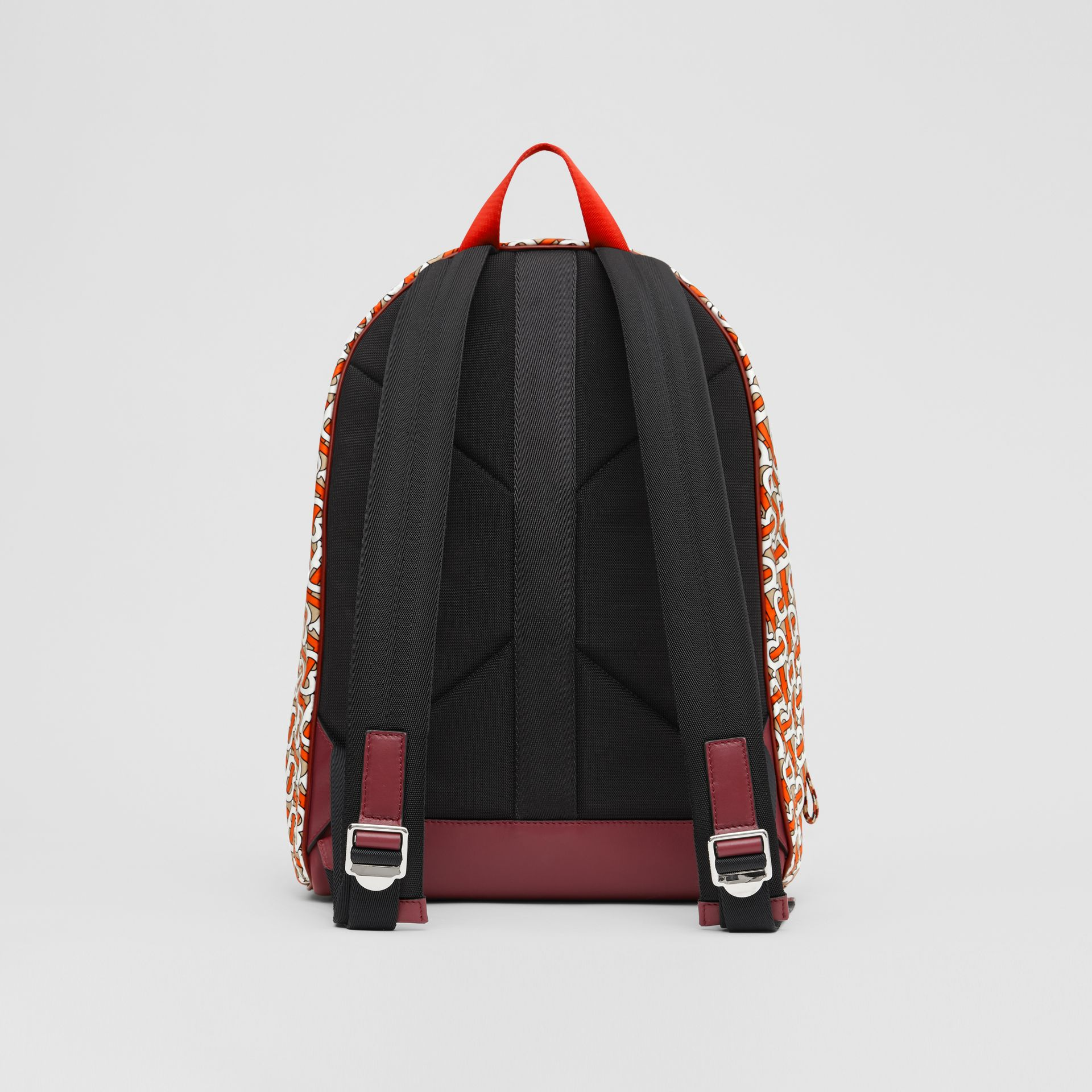 Monogram Print Nylon Backpack in Vermillion | Burberry - gallery image 9