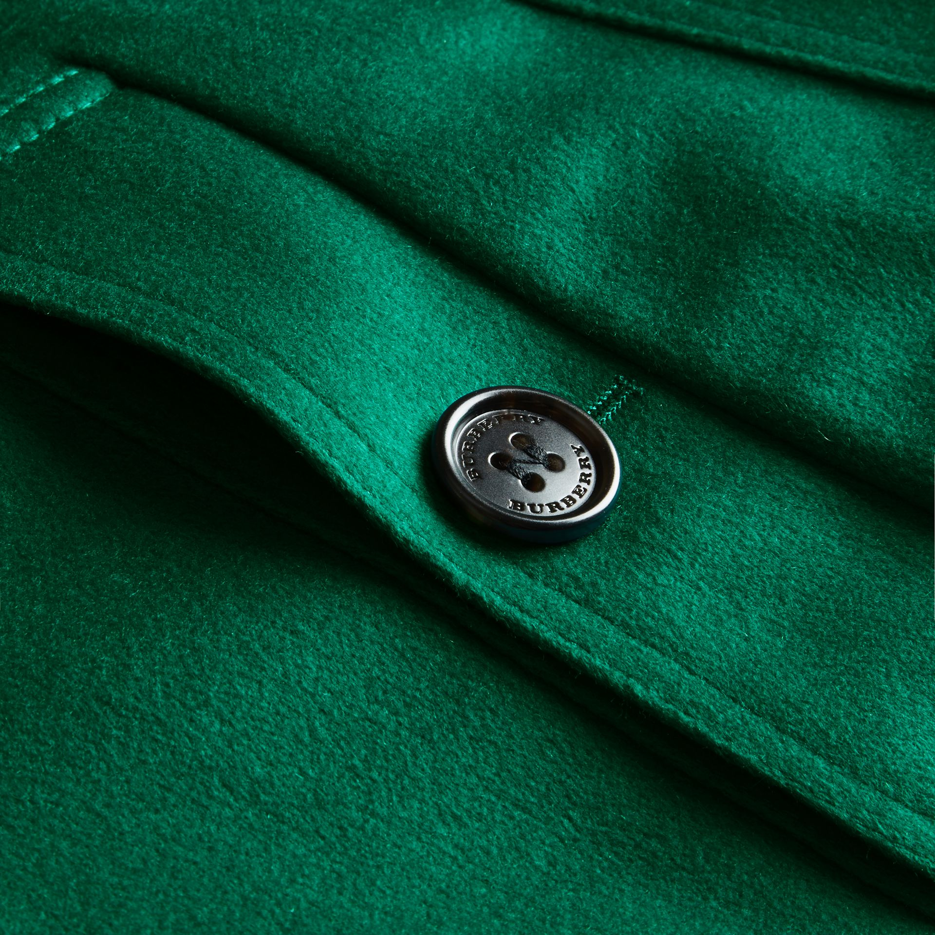 Sandringham Fit Cashmere Trench Coat Kelly Green - gallery image 2