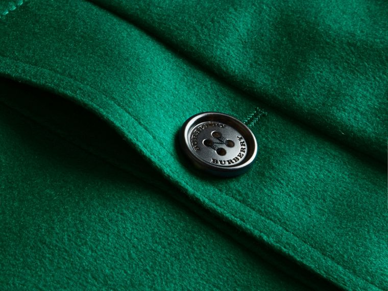 Sandringham Fit Cashmere Trench Coat Kelly Green - cell image 1