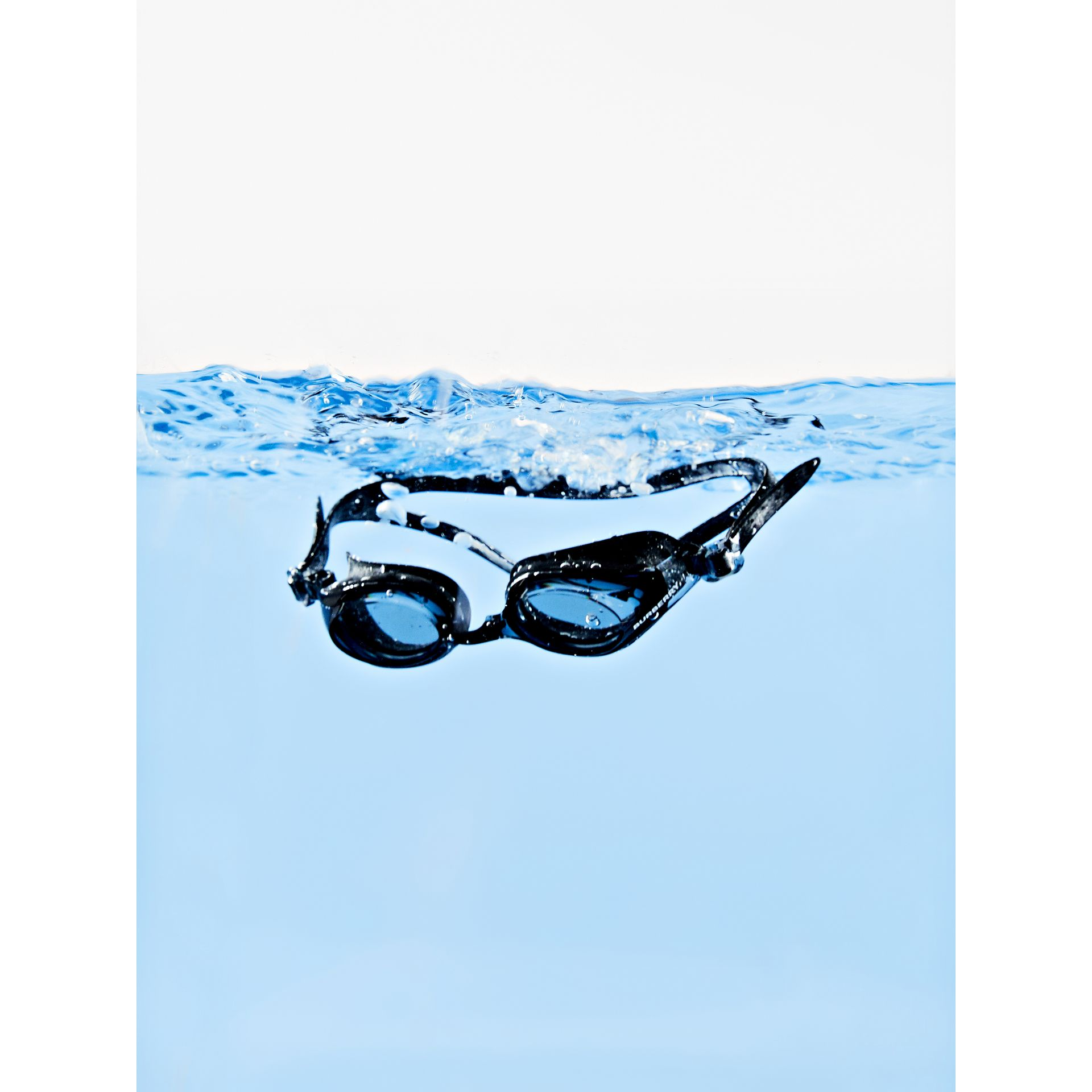 Logo Print Swimming Goggles in Black | Burberry - gallery image 5