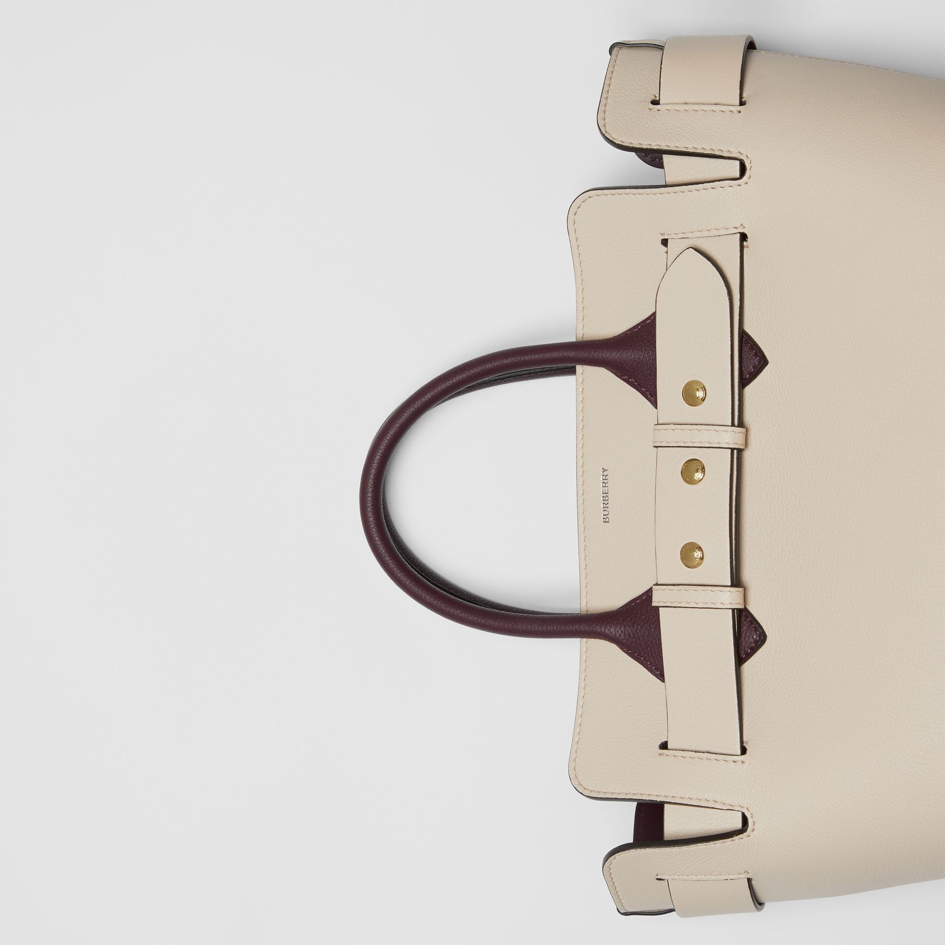 The Small Tri-tone Leather Triple Stud Belt Bag in Limestone/pale Drift - Women | Burberry - gallery image 1