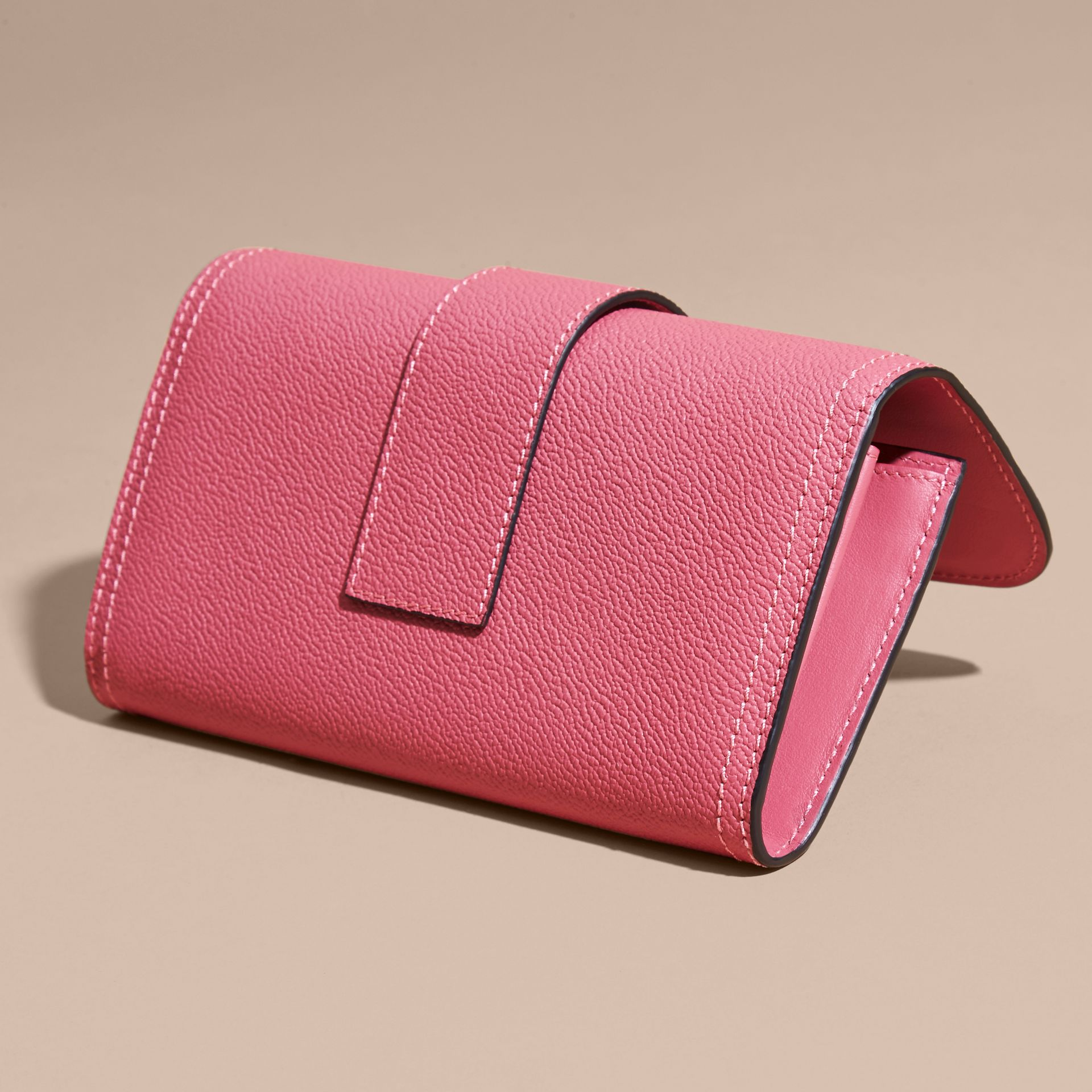 Pink azalea Textured Leather Continental Wallet Pink Azalea - gallery image 3