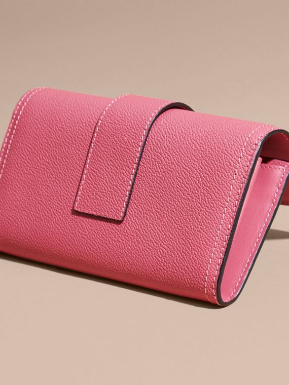 Pink azalea Textured Leather Continental Wallet Pink Azalea - cell image 2