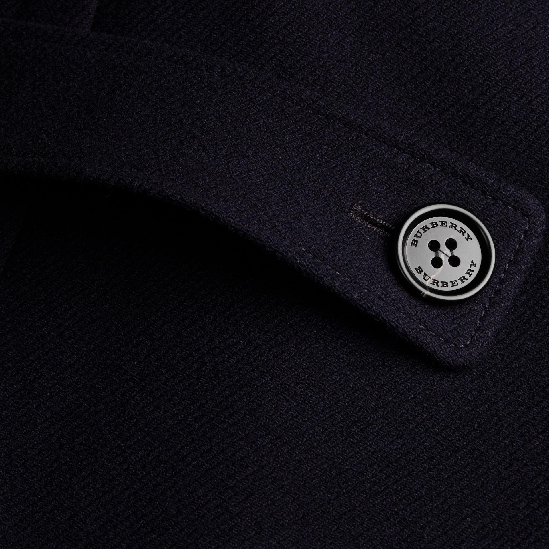 Navy Cappotto a mantella in lana e cashmere Navy - immagine della galleria 2
