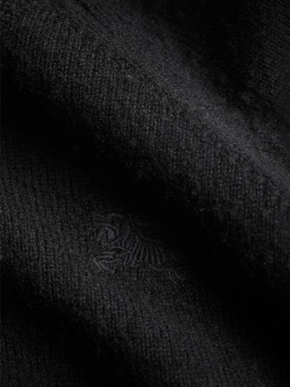 Check Cuff Cashmere Sweater in Black | Burberry United States - cell image 1