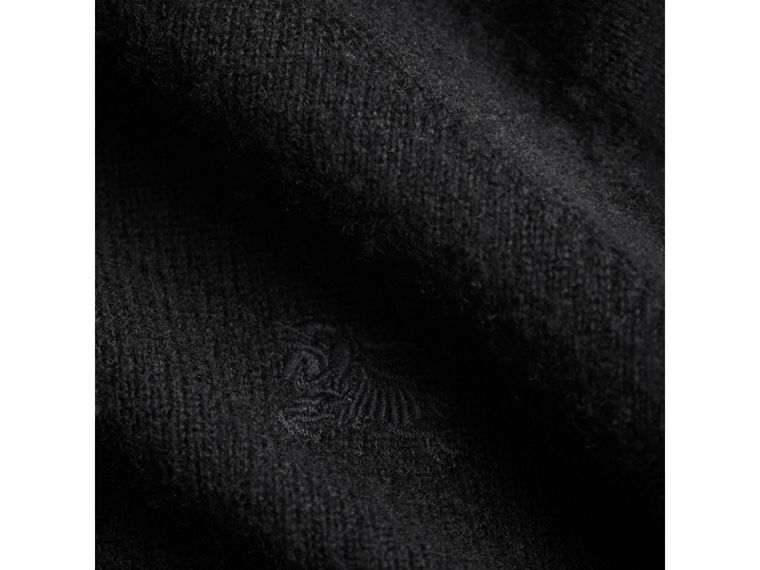 Check Cuff Cashmere Sweater in Black - Girl | Burberry - cell image 1