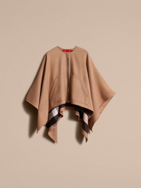 Merino Wool Cape Camel - cell image 3