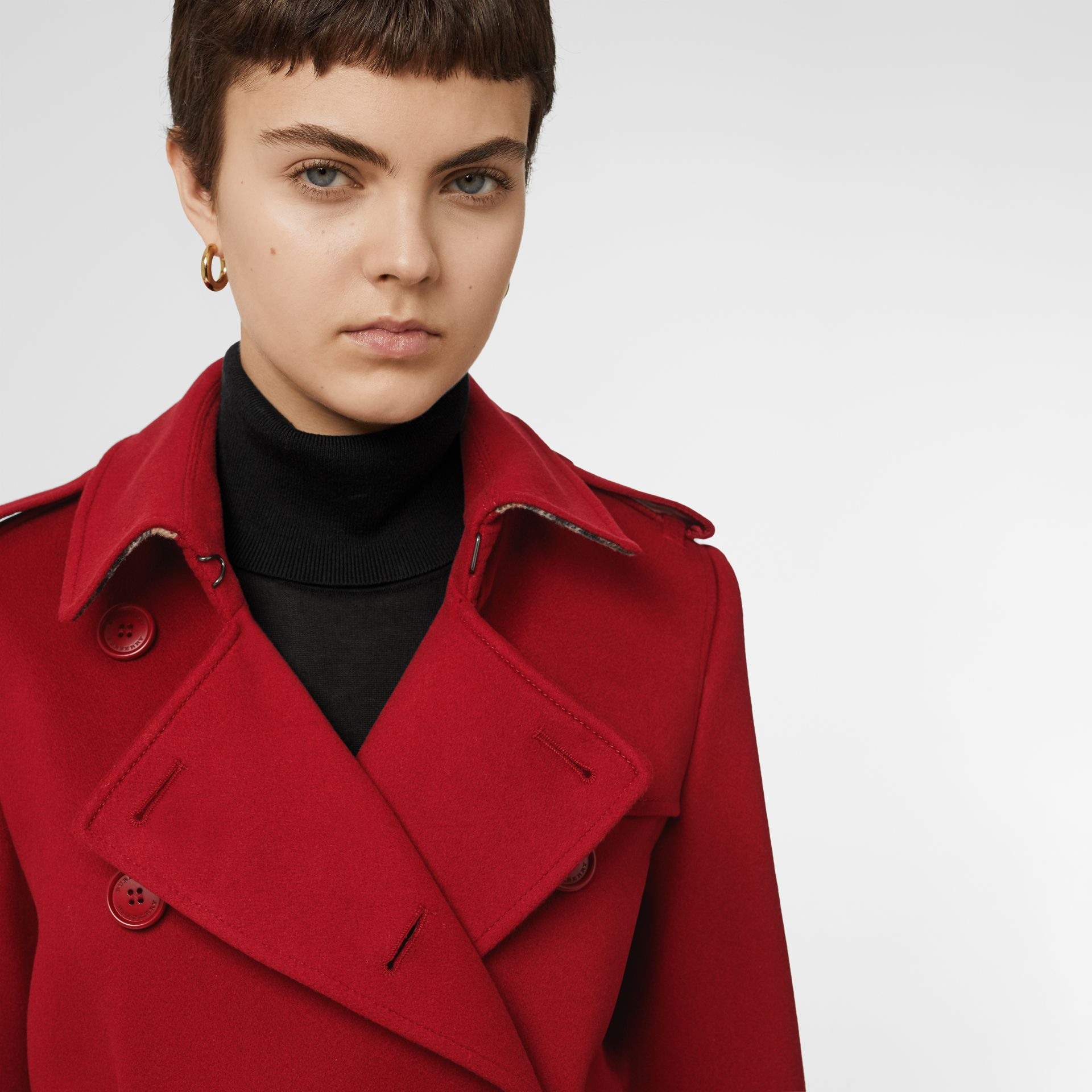 Cashmere Trench Coat in Red - Women | Burberry - gallery image 5