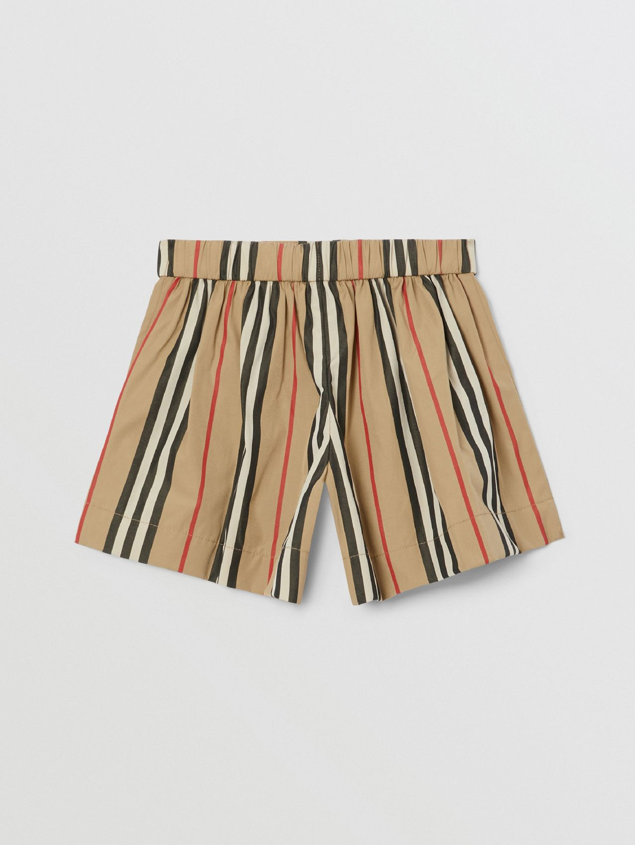 Icon Stripe Cotton Poplin Sailor Shorts in Archive Beige