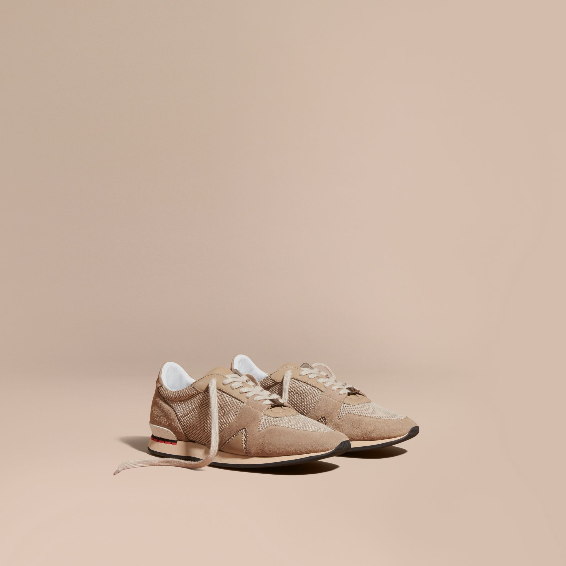 Camel The Field Sneaker in Suede and Mesh Camel - gallery image 1