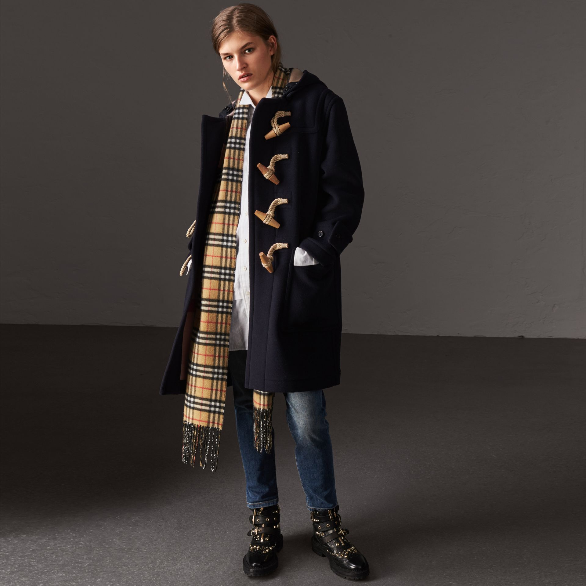 The Greenwich Duffle Coat in Navy - Women | Burberry Hong Kong - gallery image 0