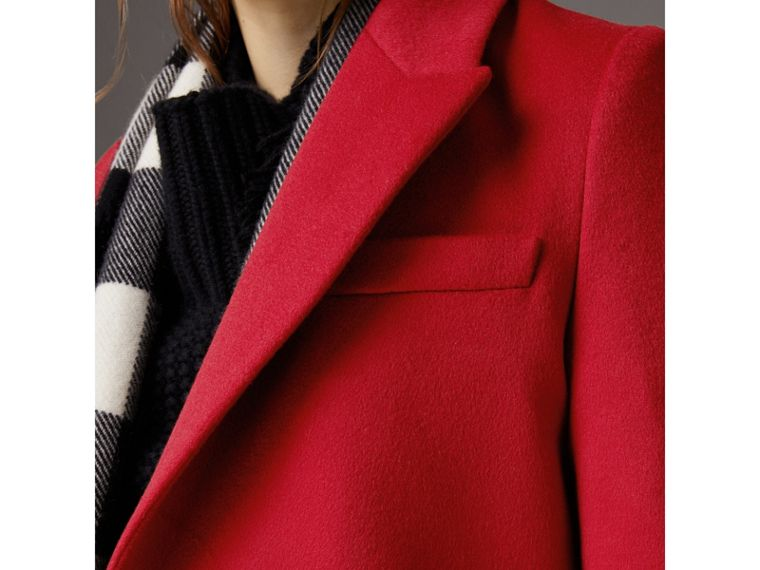 Wool Cashmere Tailored Coat in Parade Red - Women | Burberry - cell image 4