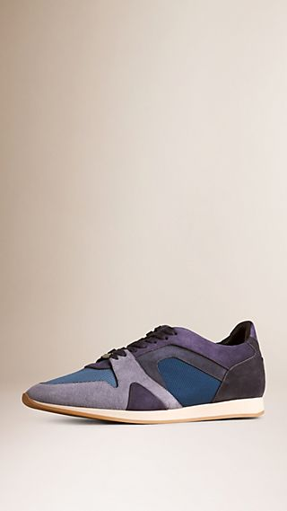 The Field Sneaker in Colour Block Suede and Mesh