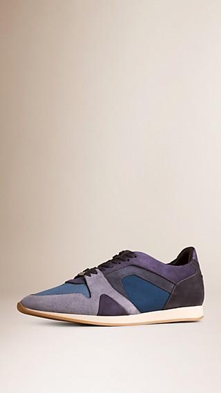 Zapatillas deportivas Field en ante y malla a franjas de colores