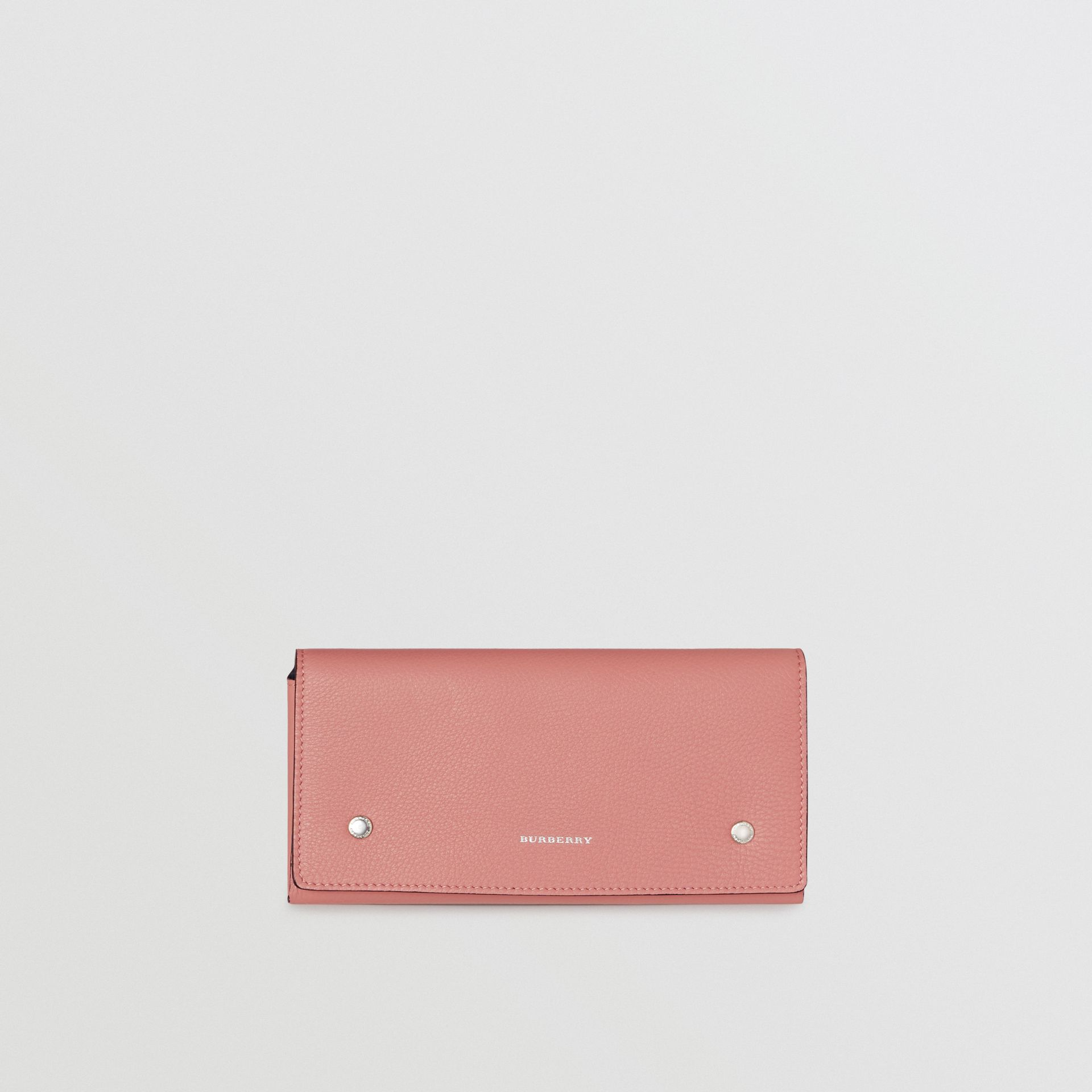 Two-tone Leather Continental Wallet in Dusty Rose - Women | Burberry - gallery image 5