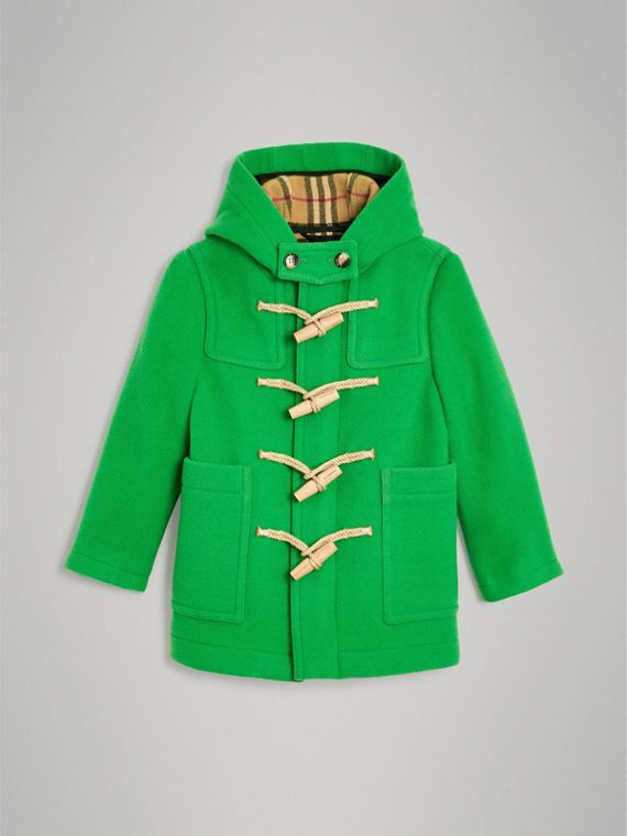 Double-faced Wool Duffle Coat in Bright Grass Green