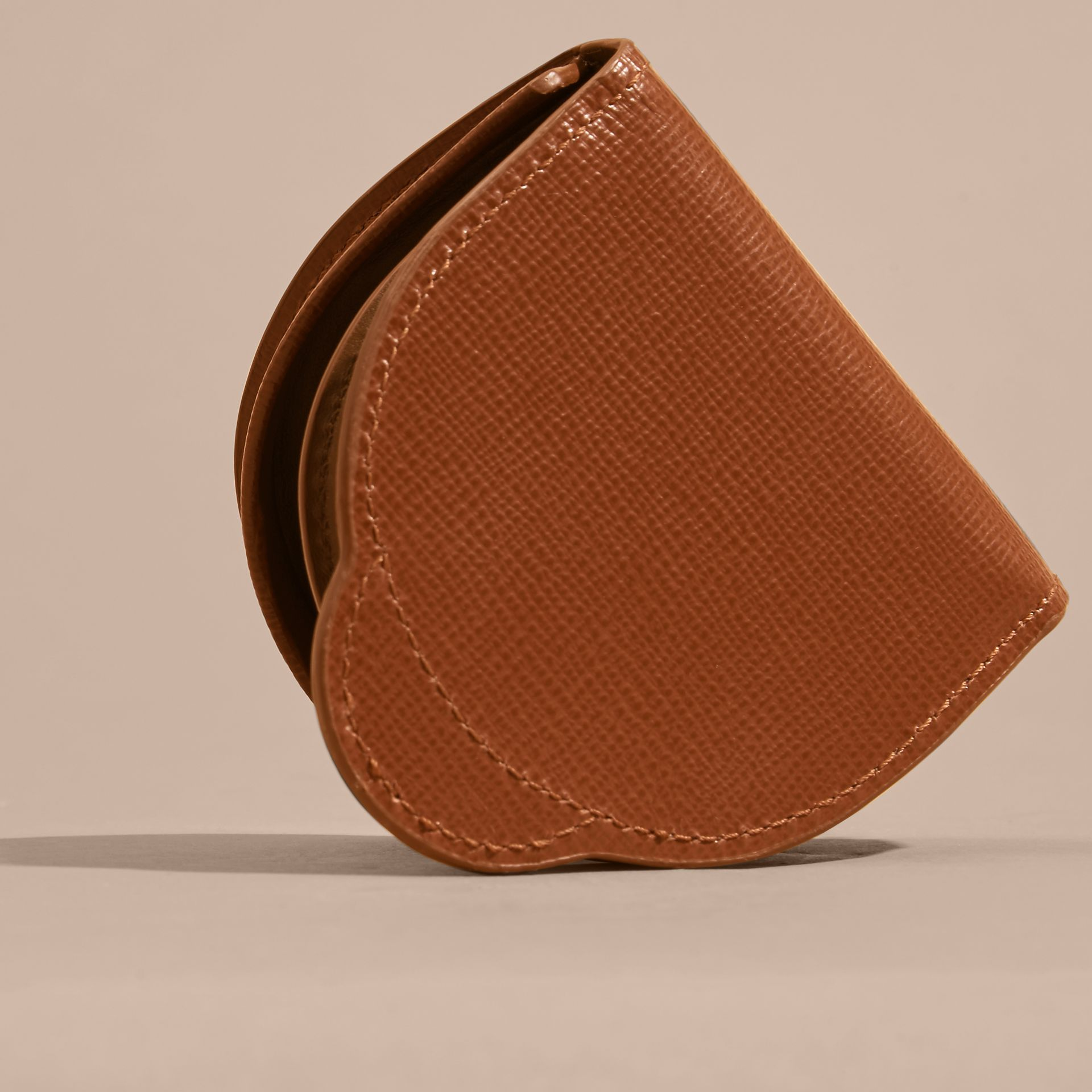 London Leather Coin Case in Burnt Sienna - gallery image 4