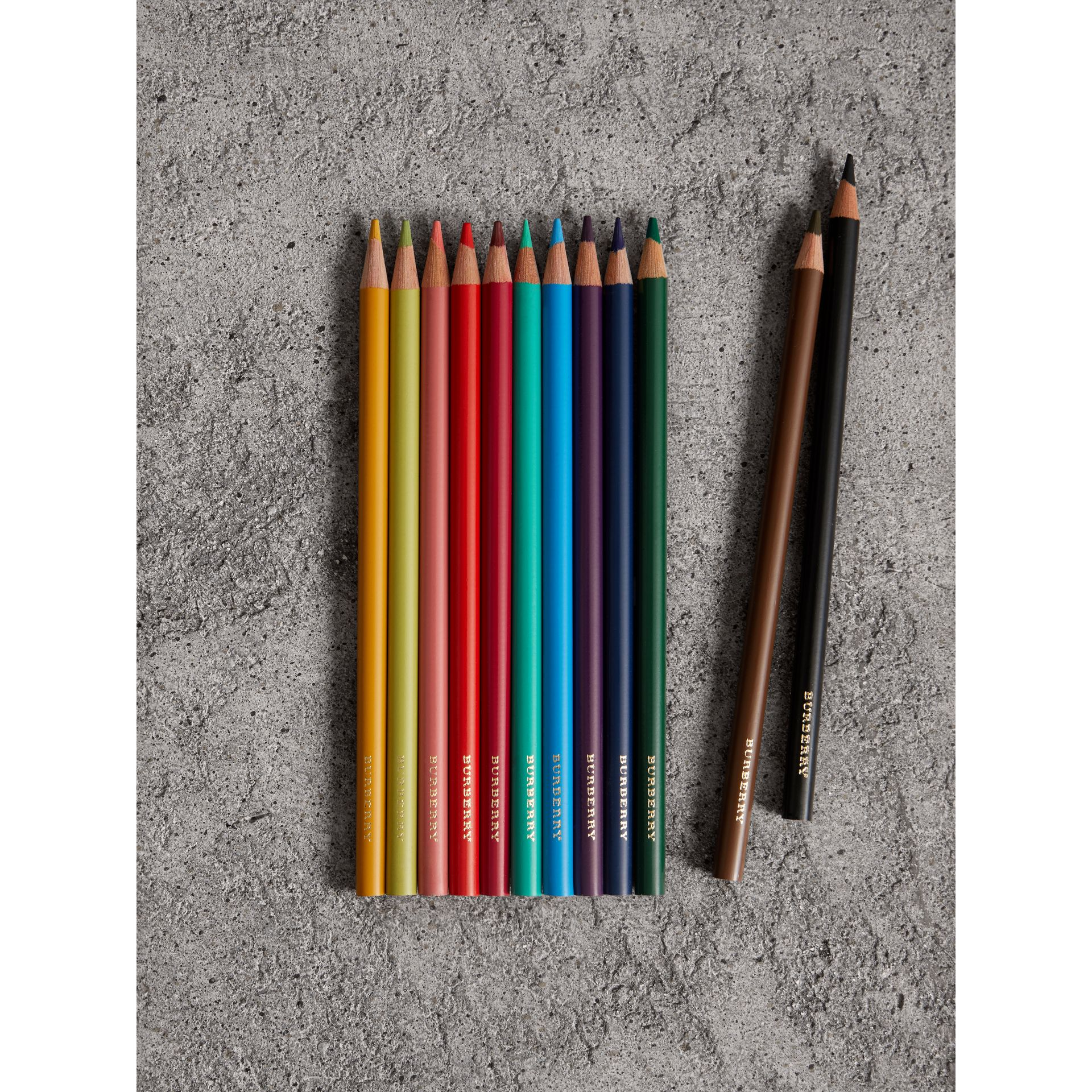 Set of Coloured Pencils in Multicolour | Burberry Singapore - gallery image 2